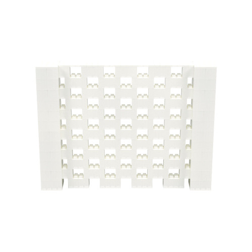 8' x 6' Translucent Open Stagger Block Wall Kit