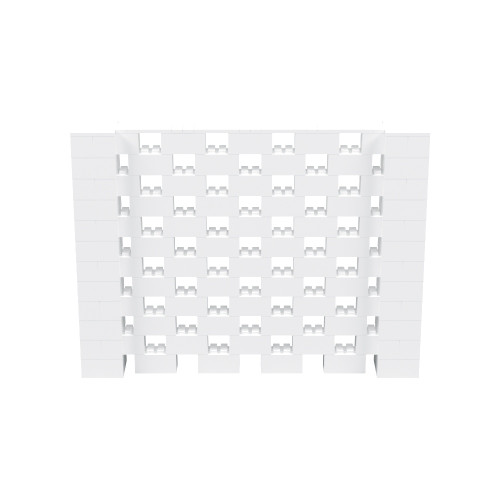 8' x 6' White Open Stagger Block Wall Kit