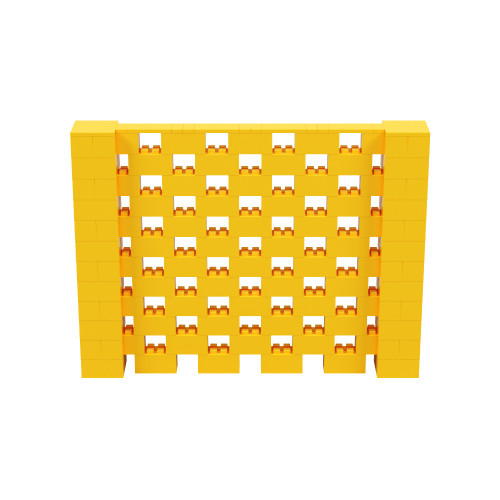 8' x 6' Yellow Open Stagger Block Wall Kit