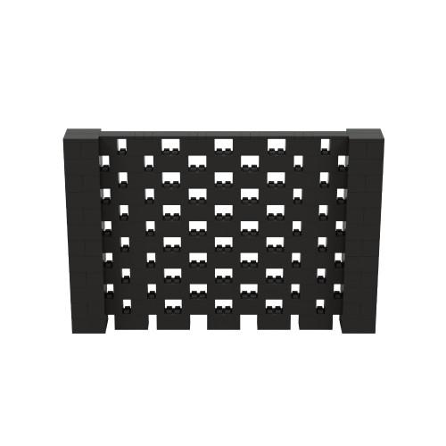 9' x 6' Black Open Stagger Block Wall Kit