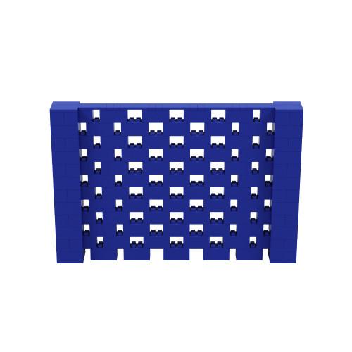 9' x 6' Blue Open Stagger Block Wall Kit