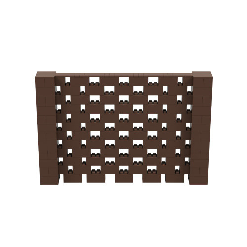 9' x 6' Brown Open Stagger Block Wall Kit