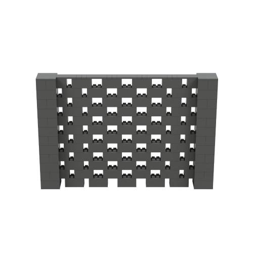 9' x 6' Dark Gray Open Stagger Block Wall Kit