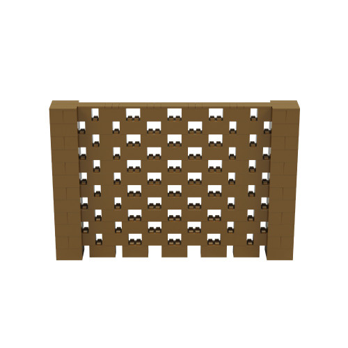 9' x 6' Gold Open Stagger Block Wall Kit