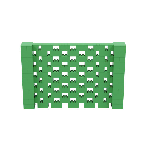 9' x 6' Green Open Stagger Block Wall Kit