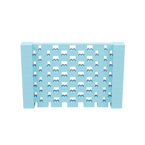9' x 6' Light Blue Open Stagger Block Wall Kit