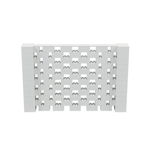 9' x 6' Light Gray Open Stagger Block Wall Kit