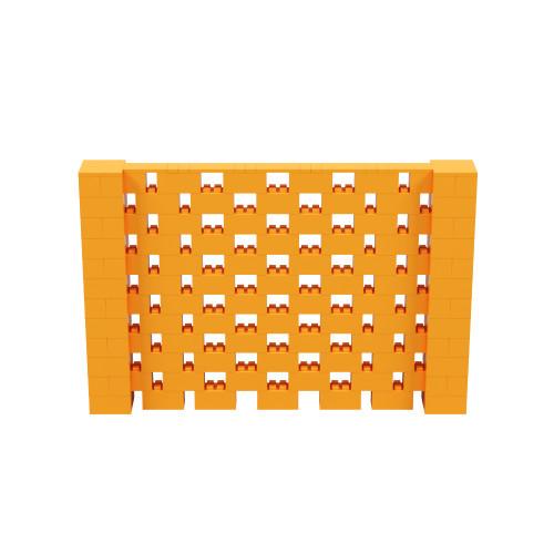9' x 6' Orange Open Stagger Block Wall Kit