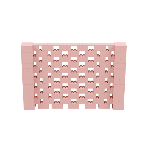9' x 6' Pink Open Stagger Block Wall Kit