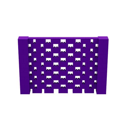 9' x 6' Purple Open Stagger Block Wall Kit