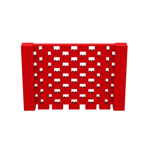 9' x 6' Red Open Stagger Block Wall Kit