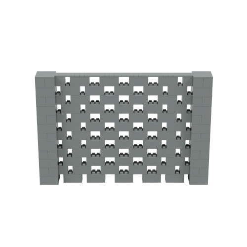 9' x 6' Silver Open Stagger Block Wall Kit