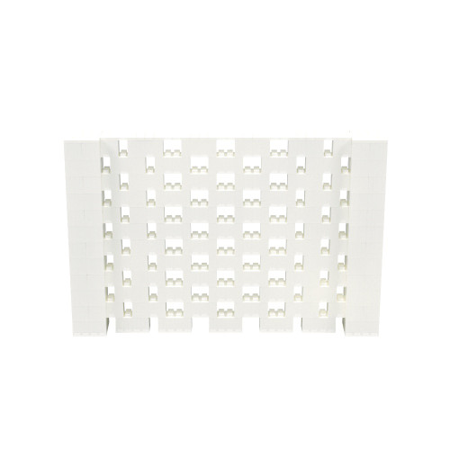 9' x 6' Translucent Open Stagger Block Wall Kit