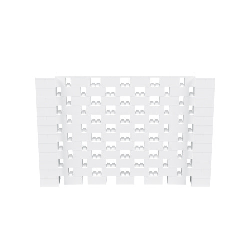 9' x 6' White Open Stagger Block Wall Kit