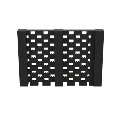 10' x 6' Black Open Stagger Block Wall Kit