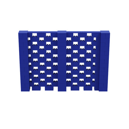 10' x 6' Blue Open Stagger Block Wall Kit