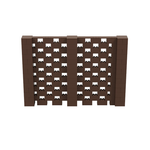 10' x 6' Brown Open Stagger Block Wall Kit