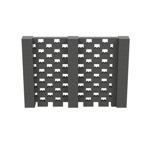 10' x 6' Dark Gray Open Stagger Block Wall Kit