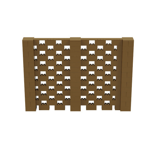 10' x 6' Gold Open Stagger Block Wall Kit