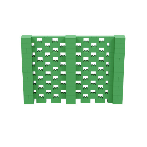 10' x 6' Green Open Stagger Block Wall Kit