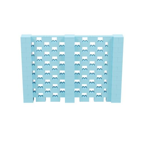 10' x 6' Light Blue Open Stagger Block Wall Kit
