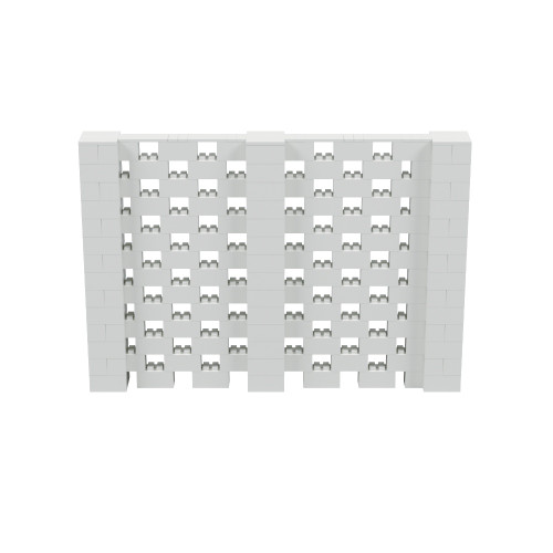 10' x 6' Light Gray Open Stagger Block Wall Kit