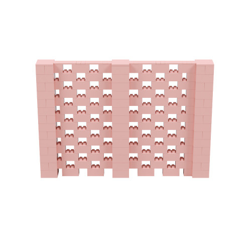 10' x 6' Pink Open Stagger Block Wall Kit