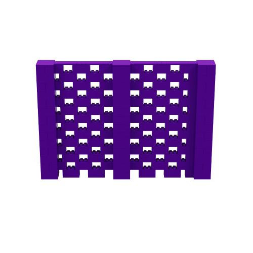 10' x 6' Purple Open Stagger Block Wall Kit