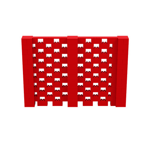 10' x 6' Red Open Stagger Block Wall Kit
