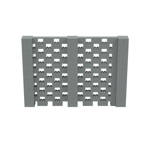 10' x 6' Silver Open Stagger Block Wall Kit