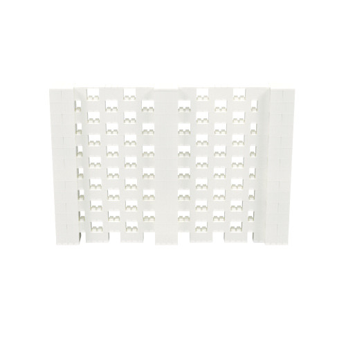 10' x 6' Translucent Open Stagger Block Wall Kit
