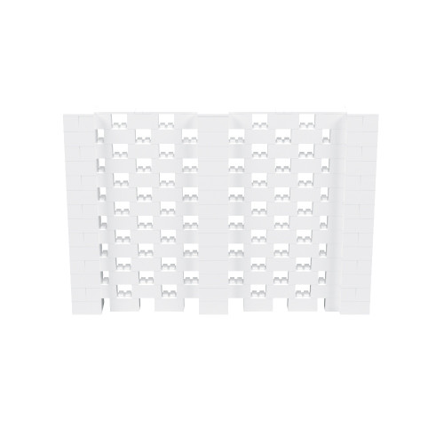 10' x 6' White Open Stagger Block Wall Kit