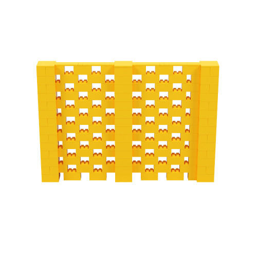 10' x 6' Yellow Open Stagger Block Wall Kit