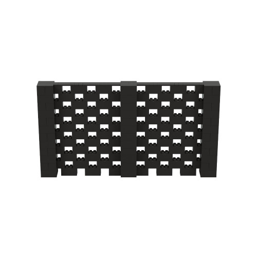 11' x 6' Black Open Stagger Block Wall Kit