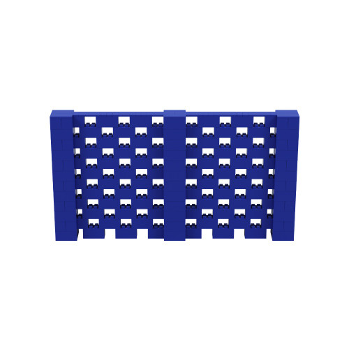 11' x 6' Blue Open Stagger Block Wall Kit