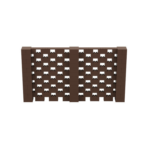 11' x 6' Brown Open Stagger Block Wall Kit