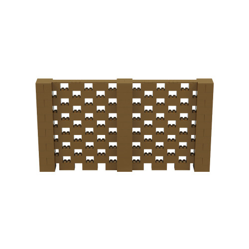 11' x 6' Gold Open Stagger Block Wall Kit