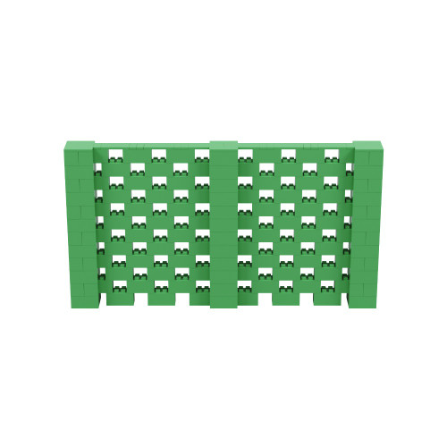 11' x 6' Green Open Stagger Block Wall Kit