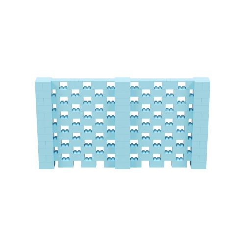 11' x 6' Light Blue Open Stagger Block Wall Kit