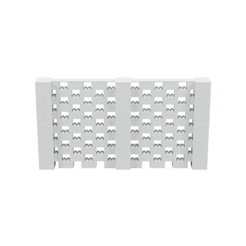 11' x 6' Light Gray Open Stagger Block Wall Kit