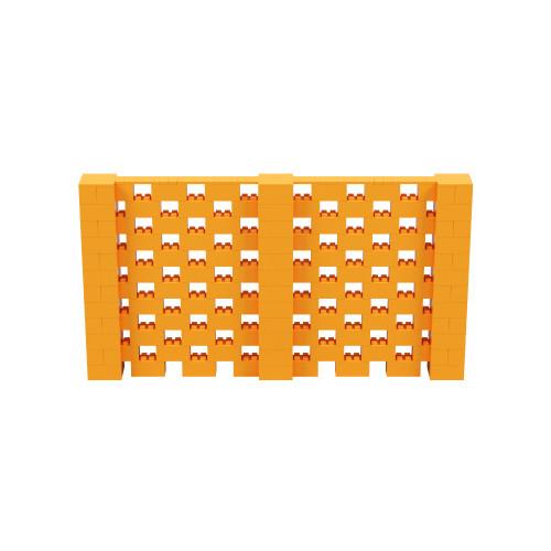 11' x 6' Orange Open Stagger Block Wall Kit