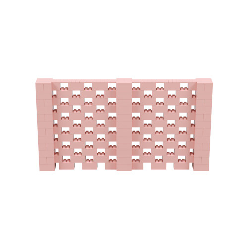 11' x 6' Pink Open Stagger Block Wall Kit