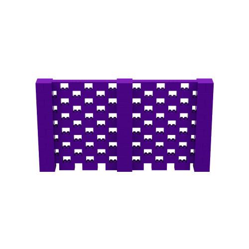 11' x 6' Purple Open Stagger Block Wall Kit
