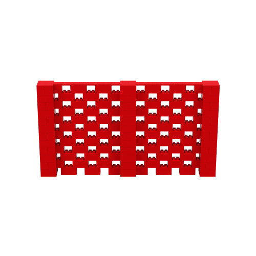 11' x 6' Red Open Stagger Block Wall Kit