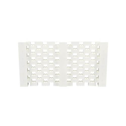 11' x 6' Translucent Open Stagger Block Wall Kit
