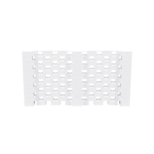 11' x 6' White Open Stagger Block Wall Kit