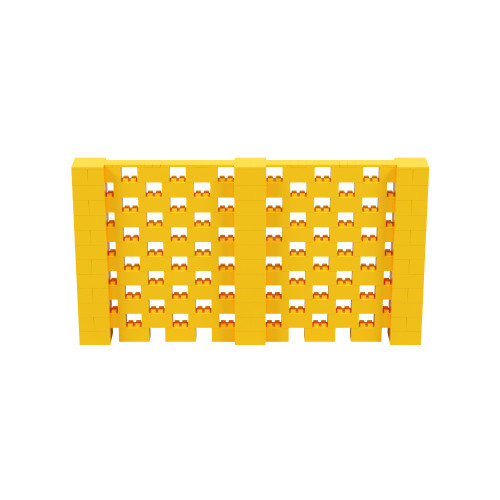 11' x 6' Yellow Open Stagger Block Wall Kit
