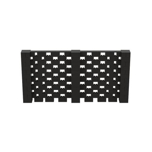 12' x 6' Black Open Stagger Block Wall Kit