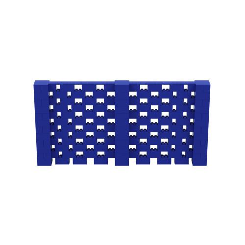 12' x 6' Blue Open Stagger Block Wall Kit