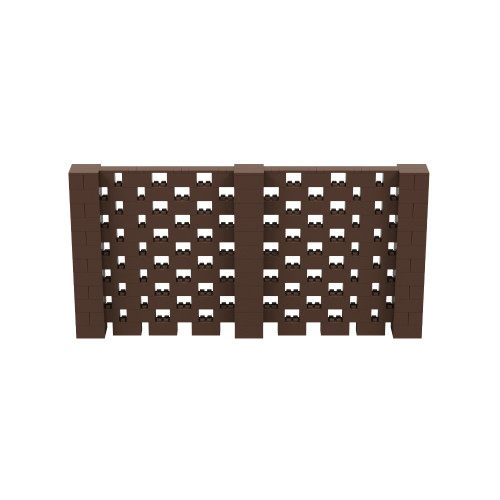 12' x 6' Brown Open Stagger Block Wall Kit